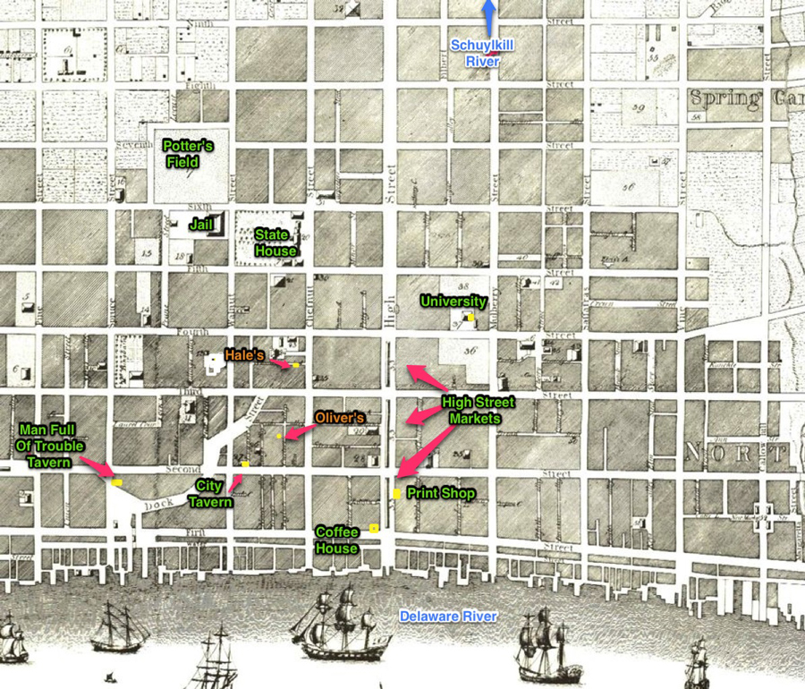 The Philadelphia of Voices - Story Map for the World the Characters Lived in