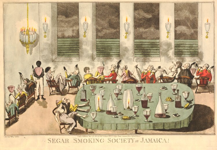 Segar Smoking Society in Jamaica! © The Trustees of the British Museum
