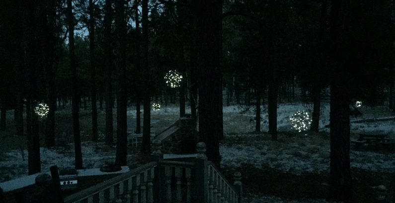 Crafting a Winter Wonderland with Fairy Lights